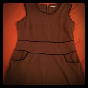 Milano Brown and Black Formal Stretch Dress